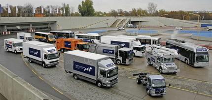 Daimler investiga con camiones y autobuses híbridos