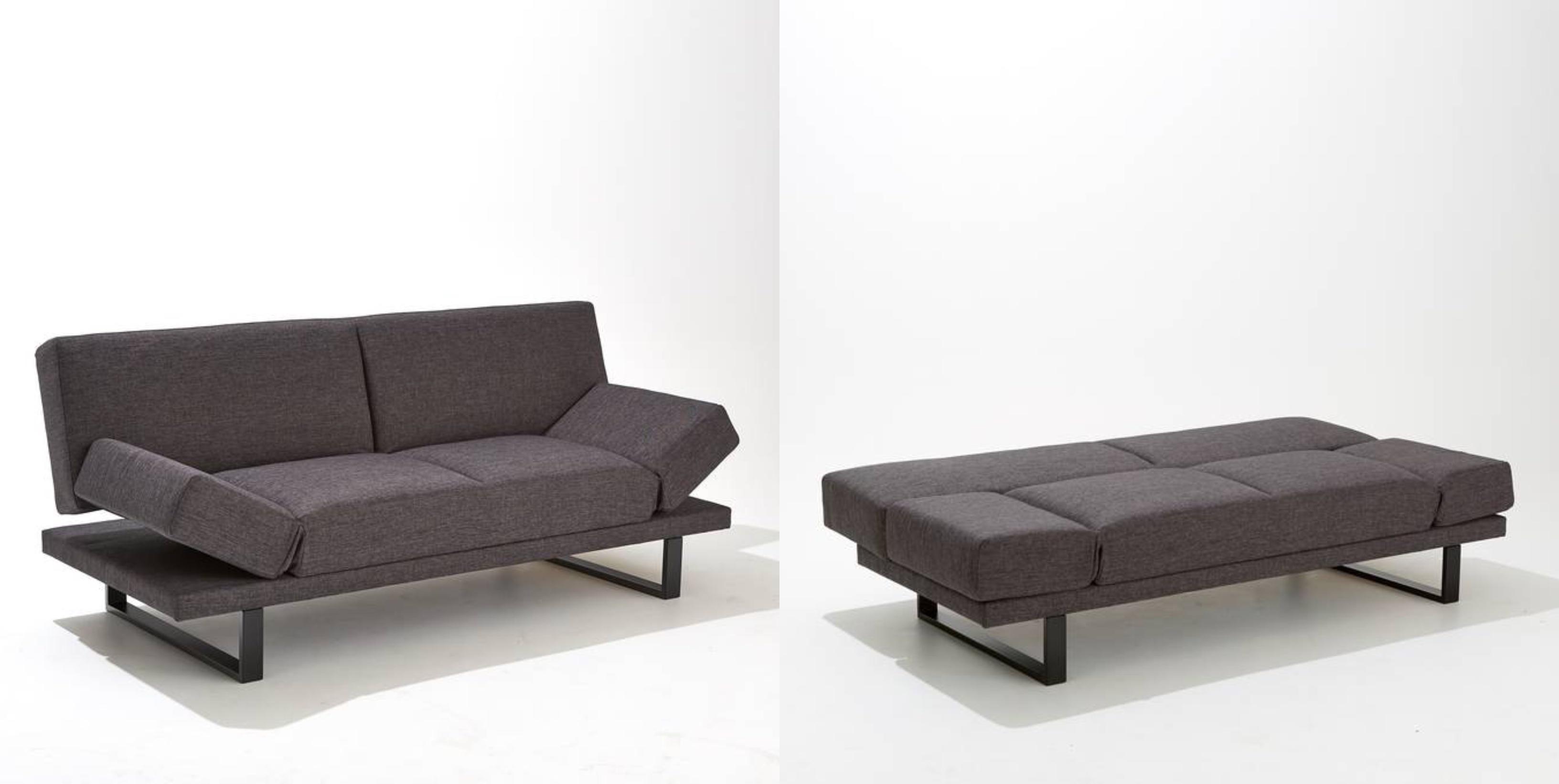 Sofá cama tejido texturizado 3 plazas, New Vermont
