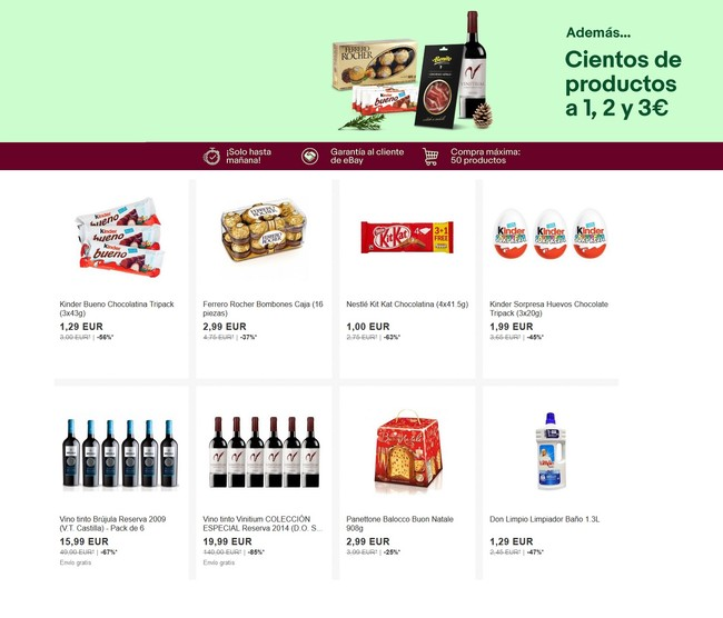 Miniprecios en eBay con cientos de productos por 1, 2 y 3 euros y envío gratis a partir de 19,99 euros de compra