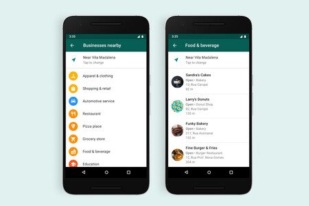 WhatsApp prueba una función para encontrar negocios cercanos a nuestra ubicación: primero en Brasil