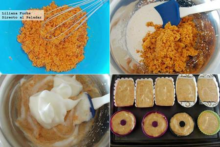 Pastelitos de zanahoria sin gluten. Pasos