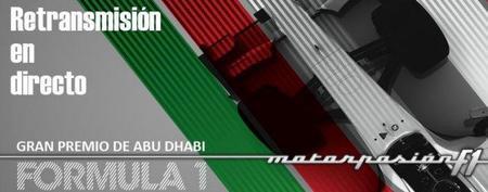 GP de Abu Dhabi F1 2011: retransmisión LIVE