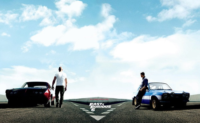 Imagen con un cartel de 'Fast & Furious 6'