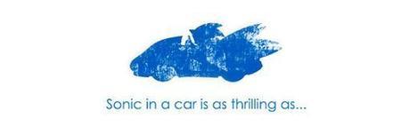 Imagen de la semana: Sonic en coche...