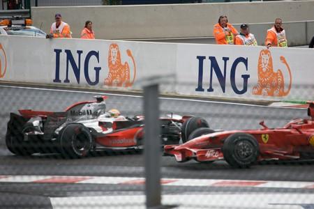 Hamilton Raikkonen Spa F1 2008