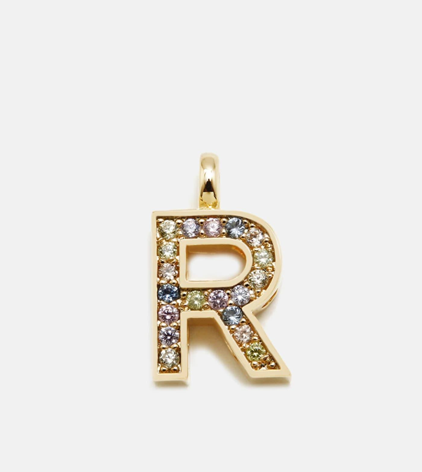 Colgante Pertegaz Inciales Letra R dorado