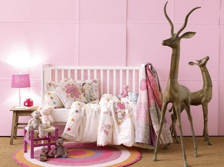 El color en la habitación del bebé