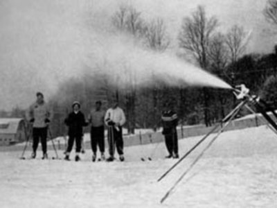 Ésta fue la primera vez que se hizo nieve artificial