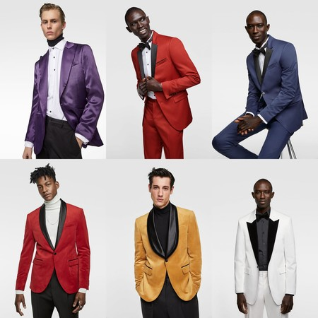 Blazers De Color Para Un Atuendo Festivo Por Lo Mas Llamativo Trendencias Hombre Tendencia Color Smoking Men
