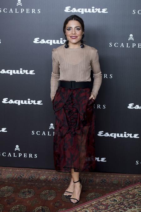 alfombra roja esquire look estilismo Paula Ordovas