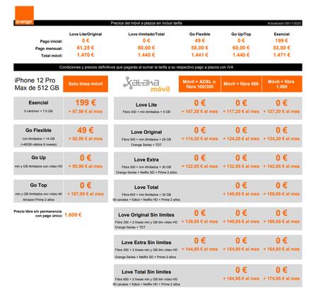 Precios Iphone 12 Pro Max De 512 Gb A Plazos Con Tarifas Orange
