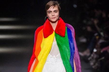 La fiesta de Burberry: todos los colores del arcoíris, la diversidad y el orgullo LGTB en un solo desfile
