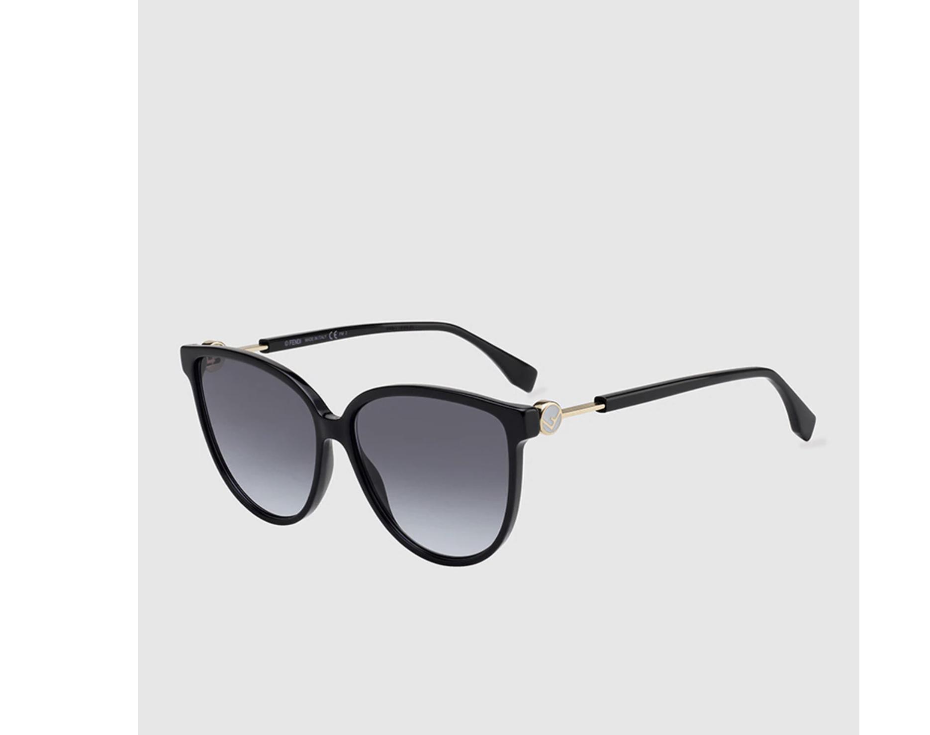 Gafas de sol mujer Fendi cat eye de acetato en negro