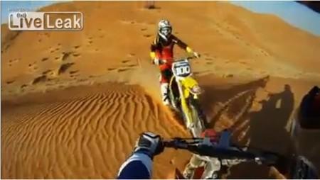 Ya ni en el desierto se puede rodar tranquilo...