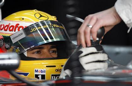 Lewis Hamilton, el más rápido en el Circuit de Catalunya