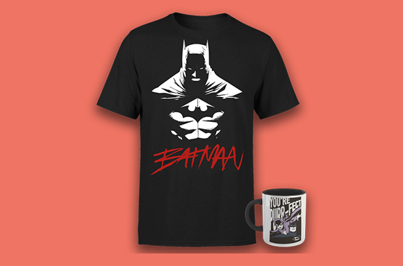 Camiseta y taza de Batman