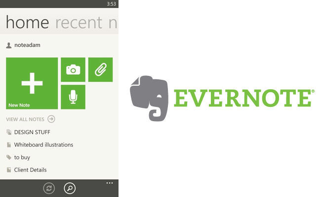 Evernote 3.0 para Windows Phone