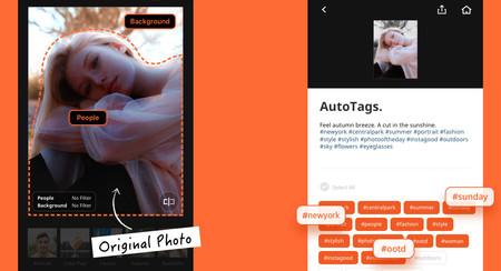 Aicut, una app para crear fotos con modo retrato y sugerir hashtags relacionados mediante IA