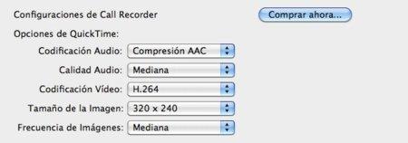 Opciones Call Recorder