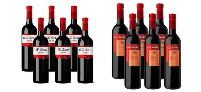 Tres ofertas flash en una selección de Vinos D.O Rioja y Toro en Amazon