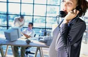 Embarazo sin riesgos mientras trabajas