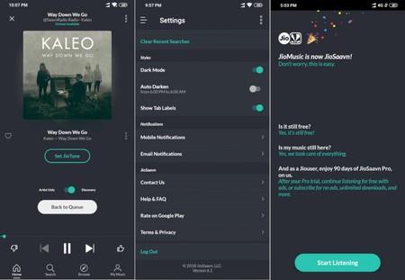 Una app híbrida que ya implementa su propio modo oscuro
