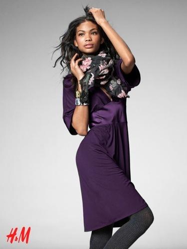 Looks y tendencias de H&M de cara al Otoño-Invierno 2009/2010, con Chanel Iman y Masha Novoselova