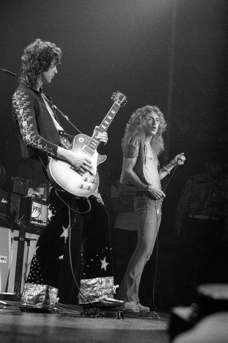 Jimmy Page And Robert Plant Madison Square Garden, New York, 1973
