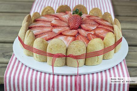 Tarta Charlota De Fresas