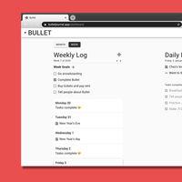 Esta aplicación gratuita te permite crear un Bullet Journal sincronizado