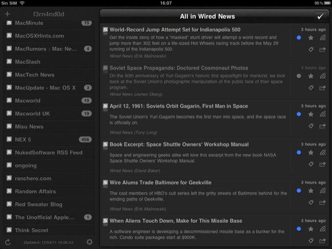 Foto de Lectores RSS para el iPad (9/20)