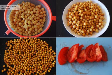 Bowl de Garbanzos con Aguacate y Huevo. Pasos