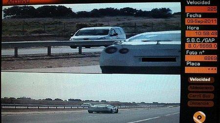 Cazado un Nissan GT-R a 225 km/h en la AP-36
