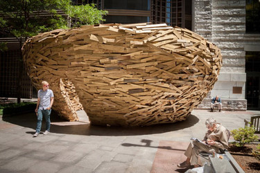 The Reading Nest, un espectacular nido hecho con tablones