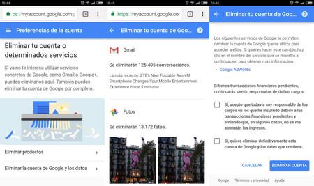 Eliminar Cu Google