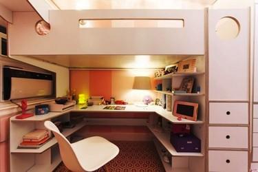 Antes y después: un dormitorio juvenil completo en muy poco espacio