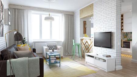 Un pequeño apartamento lleno de grandes ideas decorativas