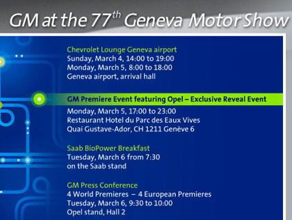 Primicia de Opel en el salón de Ginebra