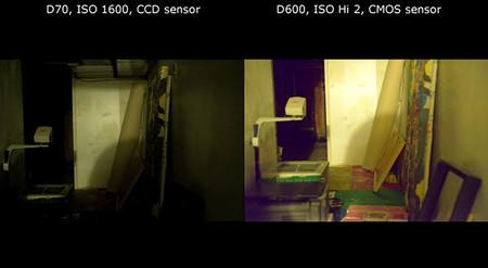 Comparativa de ruido entre las Nikon D70 y D600