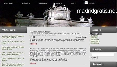 MadridGratis.net, opciones para no gastar