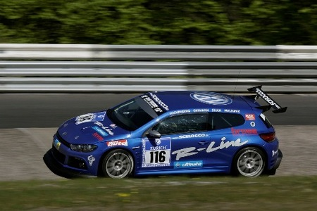 El Scirocco decorado para las 24 Horas de Nürburgring