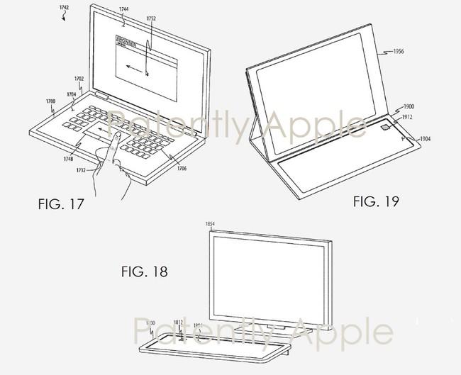 Patente Teclado Pantalla Apple Detalles