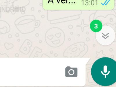WhatsApp para Android estrena indicador de mensajes nuevos dentro de los chats