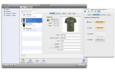 PayLoom, tienda con pagos vía Paypal con RapidWeaver