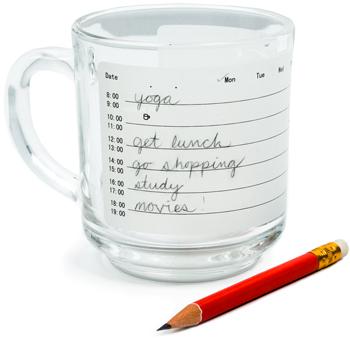 Una taza para organizar tu agenda