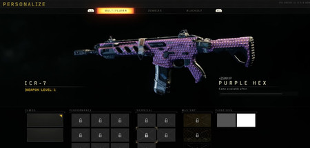 Black Ops 4 Camuflaje Hexagono Morado