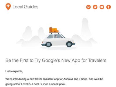 Google tiene una nueva app para viajeros y busca probadores