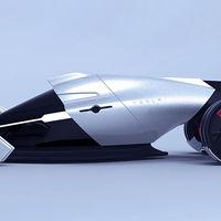 Tesla T1, el coche concepto del futuro que es impulsado por energía eólica