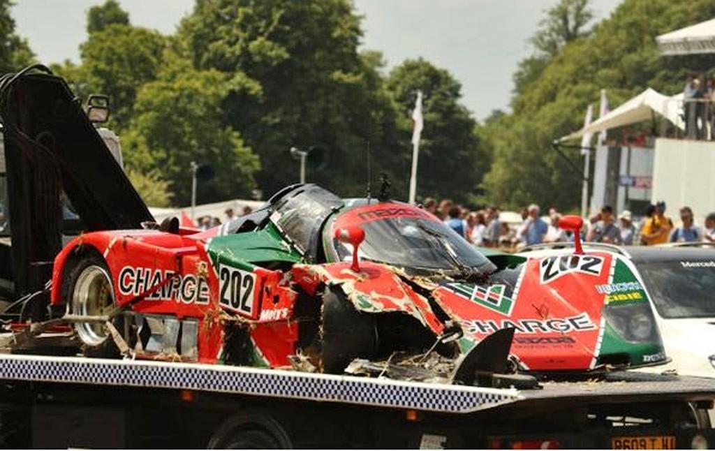 Mazda 767b Crash