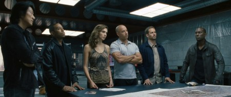 Seis de los protagonistas de la saga Fast and Furious